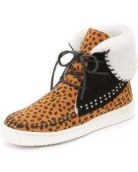 Thakoon Addition - Warwick 3 High Top Sneakers - Cheetah - Lyst