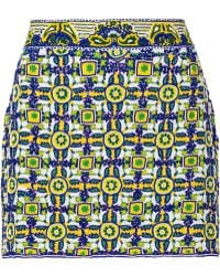 Pia Pauro - Sequined Mesh Mini Skirt - Lyst