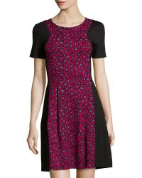 Free People Lotus Pond Embellished Fit Flare Dress In