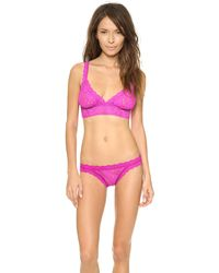 Hanky Panky Signature Lace Crossover Bralette  Sour Cherry - Lyst