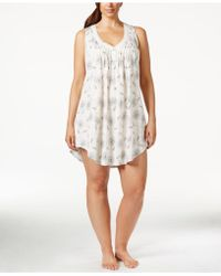 Lucky Brand Plus Size Lace-trim Chemise - White