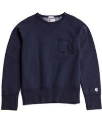 Todd Snyder X Champion Blue Pocket Sweatshirt - Lyst