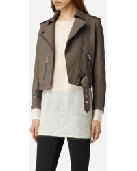 AllSaints Hayes Leather Biker Jacket - Lyst