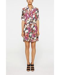 Nicole Miller Enchanted Garden Shirtdress multicolor - Lyst