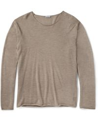 Loewe Fine-knit Cashmere and Silk-blend Sweater - Lyst