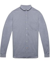 Oliver Spencer Lancaster Blue Eton Collar Shirt blue - Lyst