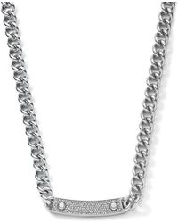 Michael Kors Pave-Bar Chain-Link Necklace - Lyst