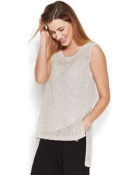 Eileen Fisher Sleeveless Hi-Low Knit Top - Lyst