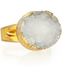 Panacea - East-west White Druzy Ring - Lyst
