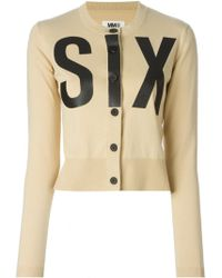 MM6 by Maison Martin Margiela 'Six' Print Cardigan - Lyst