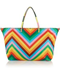 Valentino The Rockstud Printed Shell Tote - Lyst