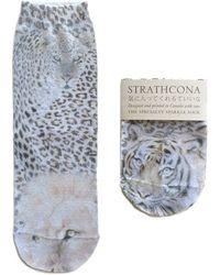 Strathcona - Graphic Metallic Anklet Socks - Lyst