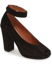 Jeffrey Campbell 'Beatrice' Ankle Strap Peep Toe Pump - Lyst