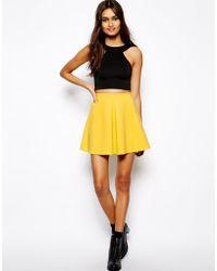 Oh My Love Scuba Front Pleat Skirt - Lyst