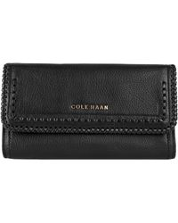 Cole Haan Nickson Large Leather Flap Wallet - Lyst