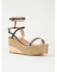 Lanvin Wedge Sandals brown - Lyst