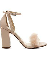Office Tuffty Fluff Detail Block Heel Sandals - Natural