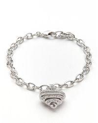 Swarovski - Sensible Pave Heart Bracelet - Lyst