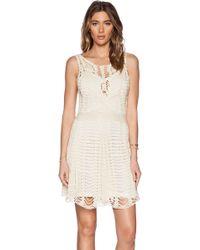 Free People Macrame Mini Dress - Lyst