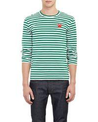 Comme Des Garçons Striped Longsleeve Tshirt - Lyst