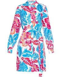 Diane von Furstenberg Prita Silk Wrap Dress - Multicolor