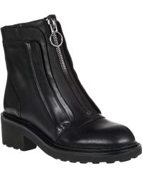 Ash Space Ankle Boot Black Leather - Lyst