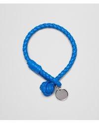 Bottega Veneta Signal Blue Intrecciato Nappa Bracelet - Lyst