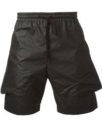 Lost & Found - Coated Tapered Shorts - Lyst