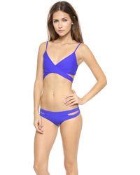 L*space L Chloe Wrap Bikini Top  Royal - Lyst