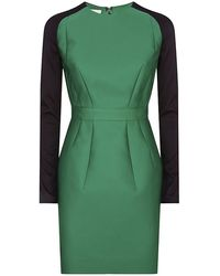 Antonio Berardi Colour Block Long Sleeve Dress - Lyst
