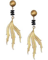 House of Lavande | 1970s Vintage Yves Saint Laurent Clip-on Leaf Drop Earrings | Lyst