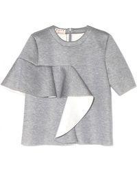 Marni Inox Short Sleeve Sweatshirt gray - Lyst