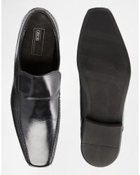 ASOS - Slip On Shoes In Leather - Lyst