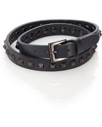 Valentino Studded Wrap Bracelet - Lyst