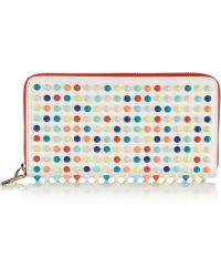 Christian Louboutin Panettone Studded Leather Wallet - Lyst