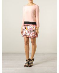 Emilio Pucci Printed Bottom Dress pink - Lyst