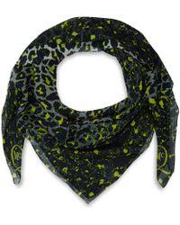 McQ by Alexander McQueen Yellow Animal Print Silk Scarf - Lyst