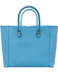 Victoria Beckham Blue Liberty Leather Bag