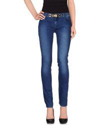 Blumarine Denim Pants blue - Lyst