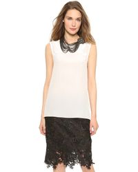 Vera Wang Collection - Sleeveless Blouse Ivory - Lyst