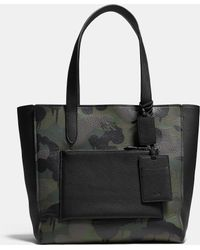 COACH   Manhattan Tote In Military Wild Beast Print Leather   Lyst