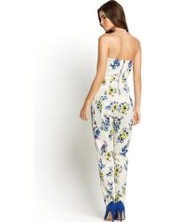 Tfnc Staley Printed Jumpsuit - Lyst