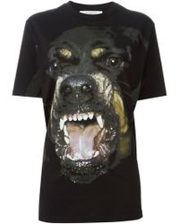 Givenchy Black Rottweiler T-Shirt - Lyst