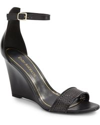 Enzo Angiolini Raledy Ankle-Strap Wedge Sandals - Lyst