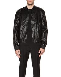 Calvin Klein Men'S Hasselholm Paper Weight Leather Baseball Jacket - Lyst