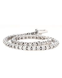 Lord & Taylor - 14kt. White Gold And Diamond Tennis Bracelet - Lyst