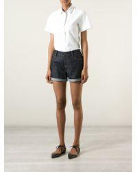 Burberry Brit | Denim High-Waisted Shorts | Lyst