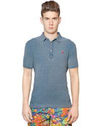 Ralph Lauren Blue Label - Custom Fit Washed Cotton Piqué Polo - Lyst