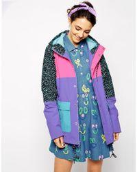 Lazy Oaf - Oafski Color Block Trench Hooded Jacket - Lyst