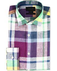 Duchamp Madras Check Linen Shirt - Lyst